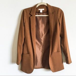 H&M brown tailored blazer